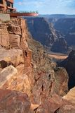 Viewpoint in Grand canyon Stock Image
