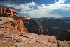 Viewpoint in Grand canyon Royalty Free Stock Image