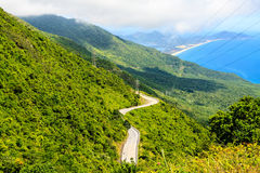 Viewpoint on Hai van Pass Royalty Free Stock Images