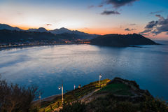 Viewpoint from the Hermitage of Our Lady of Guia.Ribadesella. Royalty Free Stock Photos