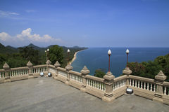 Viewpoint from higher. At wattangsai temple Stock Photography