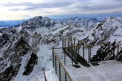 Viewpoint in hight Tatra Mountains Royalty Free Stock Image