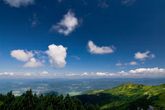 Viewpoint on the hill - amazing sky Stock Images