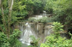 Viewpoint Huay Mae Kamin Waterfall. Stock Image