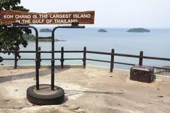 Viewpoint at the Island Koh Chang Royalty Free Stock Photo
