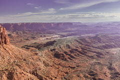 Viewpoint in Island in the Sky District in Canyonlands National Park Royalty Free Stock Images