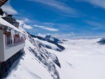 Viewpoint on Jungfraujoch Stock Photos
