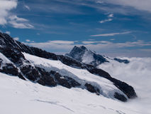 Viewpoint on Jungfraujoch Stock Photo