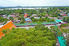 Viewpoint of Kanchanaburi Royalty Free Stock Photography