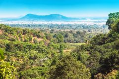 Viewpoint from Kep National Park, Cambodia. Jungles in Kampot province stock image
