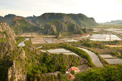 Viewpoint at Khao Daeng Stock Images
