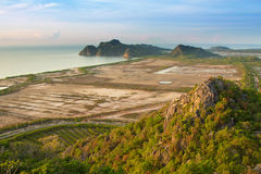 viewpoint at Khao Daeng ,Sam Roi Yod n Stock Photo