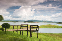 Viewpoint at khao laem National Park. Beautiful viewpoint at khao laem National Park Thailand Royalty Free Stock Images