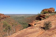 Viewpoint at Kings Canyon in Australia stock photography