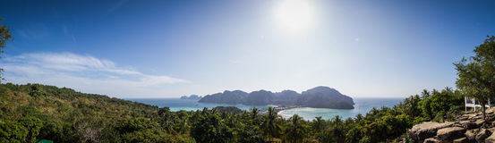 Viewpoint of Ko Phi Phi Don Island Stock Photography