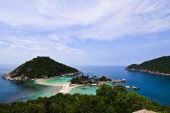 Viewpoint of Koh Nangyuan Royalty Free Stock Photos