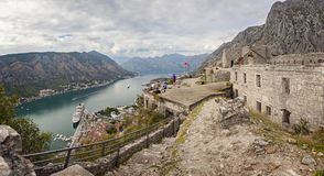 Viewpoint in Kotor Montenegro Stock Photos