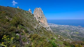 Viewpoint in kyrenia mountains,northern cyprus 4 Stock Photography