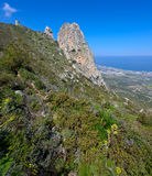 Viewpoint in kyrenia mountains,northern cyprus 3 Stock Image