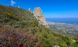 Viewpoint in kyrenia mountains,northern cyprus. A viewpoint in the kyrenia mountains in northern cyprus Royalty Free Stock Images