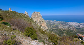 Viewpoint in kyrenia mountains,northern cyprus 2. A viewpoint in the kyrenia mountains in northern cyprus Stock Photo