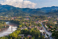 Viewpoint and landscape in luang prabang Stock Photos