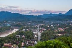 Viewpoint and landscape at luang prabang Royalty Free Stock Image