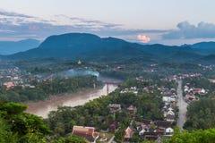 Viewpoint and landscape at luang prabang Royalty Free Stock Photography