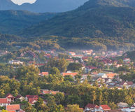 Viewpoint and landscape at luang prabang. Royalty Free Stock Photography