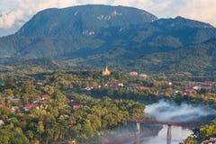 Viewpoint and landscape at luang prabang. Stock Photography