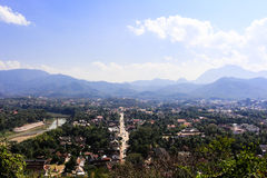 Viewpoint and landscape in luang prabang, Laos Stock Photo