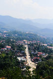 Viewpoint and landscape in luang prabang, Laos Royalty Free Stock Photos