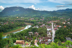 Viewpoint and landscape in luang prabang Stock Images