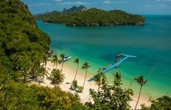 Look at the beach at Mu Ko Ang islands in Angthong National Marine Park in Thailand royalty free stock photo