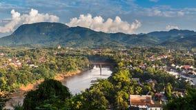 Viewpoint at luang prabang Royalty Free Stock Photos