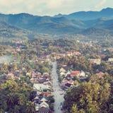 Viewpoint at luang prabang in laos Stock Photo
