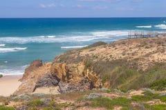 Viewpoint in Malhao beach,  Vila Nova de Milfontes. Alentejo, Portugal Royalty Free Stock Photo