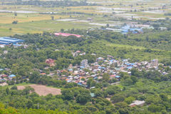 Viewpoint at Mandalay Hill is a major pilgrimage site. A panoramic view of Mandalay from the top of Mandalay Hill. Alone makes it worthwhile to attempt a climb royalty free stock photography