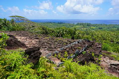 Viewpoint marae Huahine island French Polynesia Royalty Free Stock Images