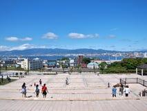 Viewpoint at Motomachi in Hakodate, Hokkaido, Japan. Royalty Free Stock Photos