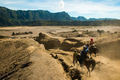 Viewpoint from the Mount Bromo, East Java, Indonesia stock photo
