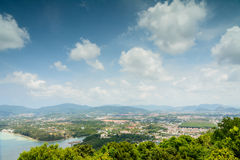 Viewpoint from mountain Phuket city in Thailand, Good weather da Stock Image
