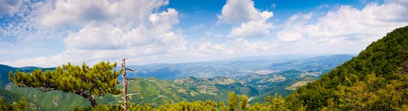Viewpoint of mountain Tara panorama Royalty Free Stock Photos