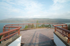 Viewpoint on Mountains reservoir lake at Lamtakhong Dam, Nakhon Ratchasima Province, Thailand. Royalty Free Stock Image