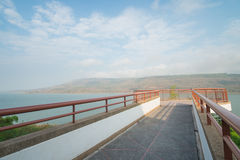 Viewpoint on Mountains reservoir lake at Lamtakhong Dam, Thailand Stock Photo