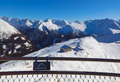 Viewpoint at mountains ski resort Bad Gastein - Austria Stock Photo