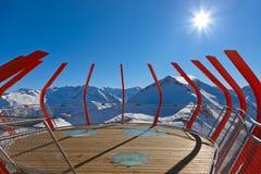 Viewpoint at mountains ski resort Bad Gastein - Austria Stock Image