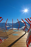 Viewpoint at mountains ski resort Bad Gastein - Austria Royalty Free Stock Images