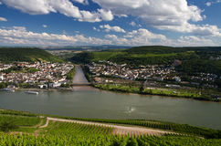 Viewpoint Naheblick above the Rhine Valley Stock Photo