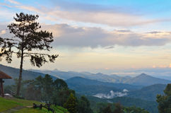Viewpoint in national park. Huai Nam Dang. Thailand Stock Photography